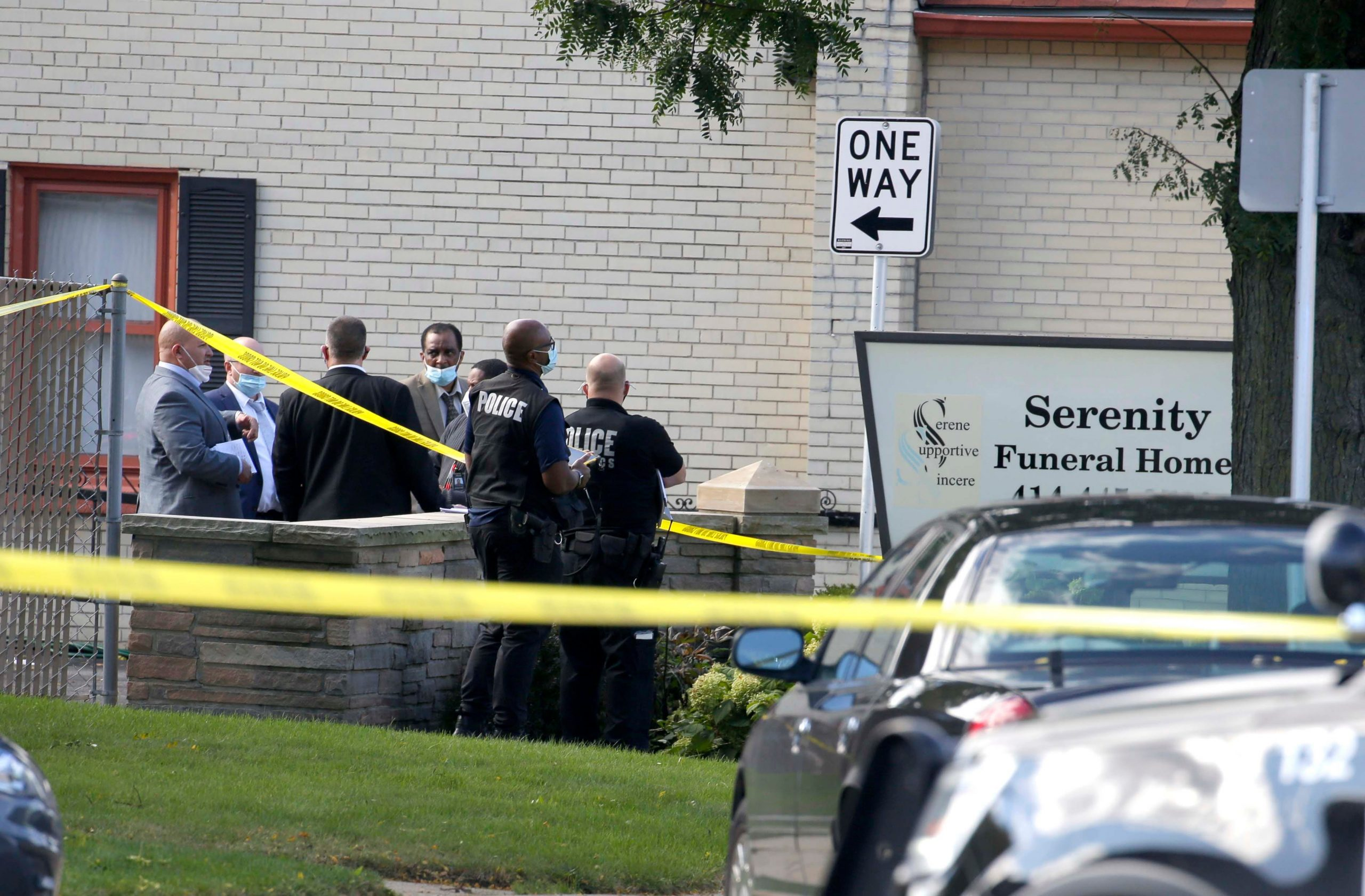mass shooting at funeral home