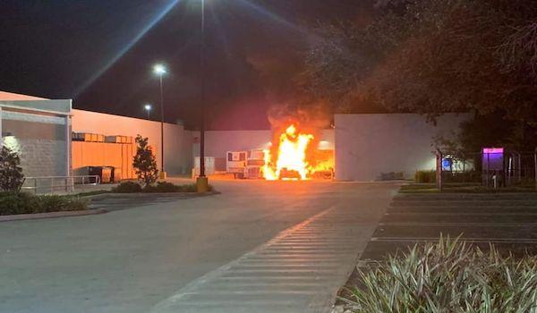 Walmart Fire Explosion