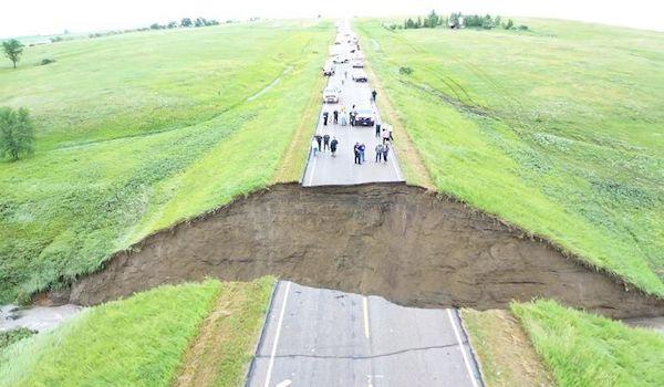 california washout highway 1