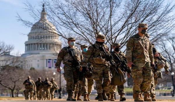 Biden inauguration Democrat troops
