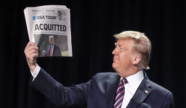 Trump acquitted senate trial insurrection