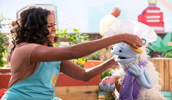 michelle obama cooking puppet show netflix