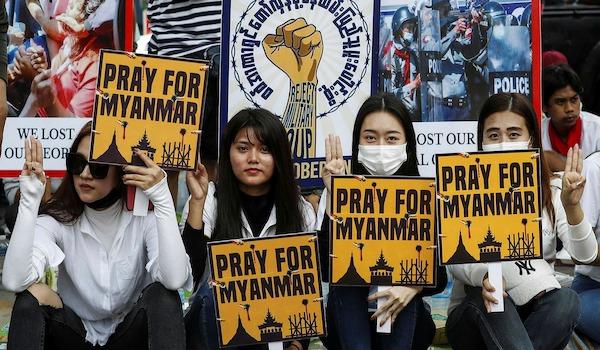 Myanmar Burma military coup